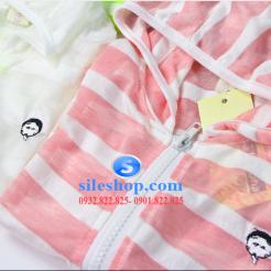 Áo khoác chống nắng sọc cho bé dễ thương-sileshop (2)