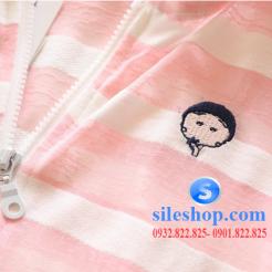 Áo khoác chống nắng sọc cho bé dễ thương-sileshop (7)