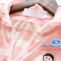 Áo khoác chống nắng sọc cho bé dễ thương-sileshop (8)