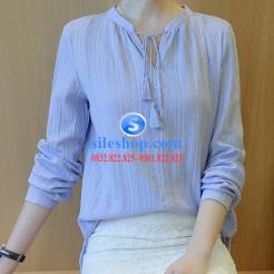 Áo nữ-sơ mi nữ xanh da trời-sileshop.com (2)