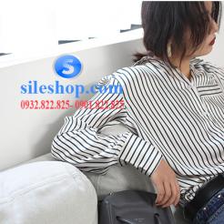 Áo sơ mi sọc phong cách cho nữ-sileshop.com (2)