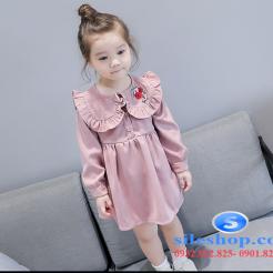Đầm hồng dễ thương cho bé gái -sileshop (1)
