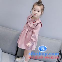 Đầm hồng dễ thương cho bé gái -sileshop (13)