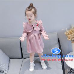 Đầm hồng dễ thương cho bé gái -sileshop (2)