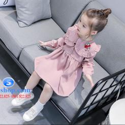 Đầm hồng dễ thương cho bé gái -sileshop (3)