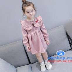 Đầm hồng dễ thương cho bé gái -sileshop (4)