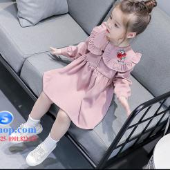 Đầm hồng dễ thương cho bé gái -sileshop (5)