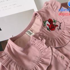 Đầm hồng dễ thương cho bé gái -sileshop (6)