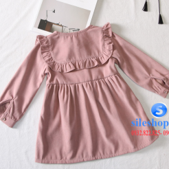Đầm hồng dễ thương cho bé gái -sileshop (8)