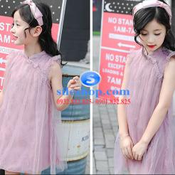 Đầm hồng voan nhiều lớp cho bé gái dễ thương-sileshop (12)