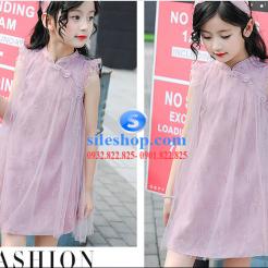 Đầm hồng voan nhiều lớp cho bé gái dễ thương-sileshop (13)