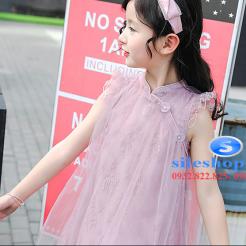 Đầm hồng voan nhiều lớp cho bé gái dễ thương-sileshop (14)