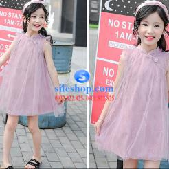 Đầm hồng voan nhiều lớp cho bé gái dễ thương-sileshop (17)
