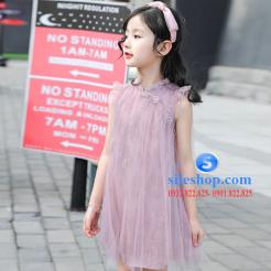 Đầm hồng voan nhiều lớp cho bé gái dễ thương-sileshop (2)