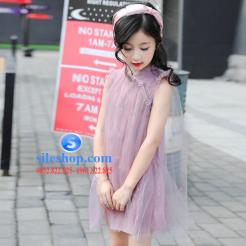 Đầm hồng voan nhiều lớp cho bé gái dễ thương-sileshop (3)
