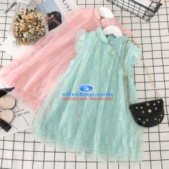 Đầm hồng voan nhiều lớp cho bé gái dễ thương-sileshop (34)