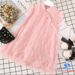 Đầm hồng voan nhiều lớp cho bé gái dễ thương-sileshop (35)