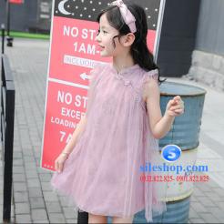 Đầm hồng voan nhiều lớp cho bé gái dễ thương-sileshop (4)