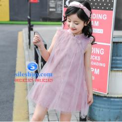 Đầm hồng voan nhiều lớp cho bé gái dễ thương-sileshop (5)