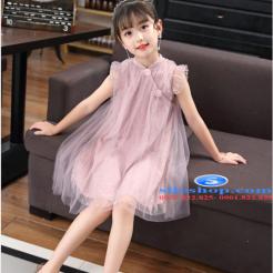 Đầm hồng voan nhiều lớp cho bé gái dễ thương-sileshop (53)