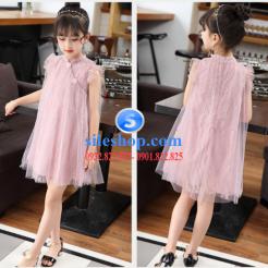 Đầm hồng voan nhiều lớp cho bé gái dễ thương-sileshop (54)