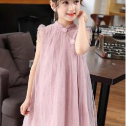 Đầm hồng voan nhiều lớp cho bé gái dễ thương-sileshop (55)