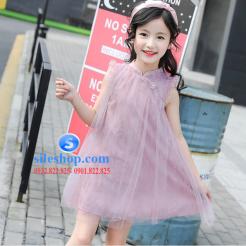 Đầm hồng voan nhiều lớp cho bé gái dễ thương-sileshop (6)