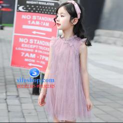 Đầm hồng voan nhiều lớp cho bé gái dễ thương-sileshop (7)
