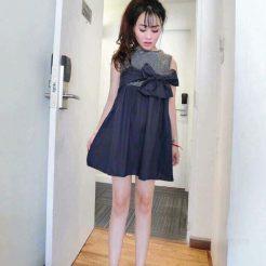 Đầm nơ dễ thương (1)