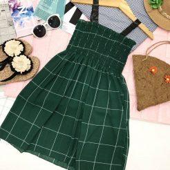 Đầm nhún ngắn dễ thương (1)