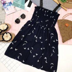 Đầm nhún ngắn dễ thương (3)