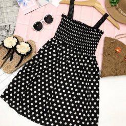 Đầm nhún ngắn dễ thương (4)