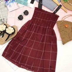 Đầm nhún ngắn dễ thương (5)