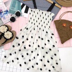 Đầm nhún ngắn dễ thương (6)