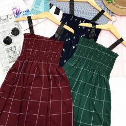 Đầm nhún ngắn dễ thương (7)