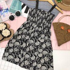 Đầm nhún ngắn dễ thương (8)