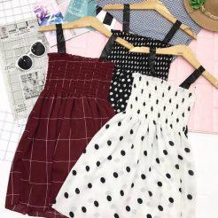 Đầm nhún ngắn dễ thương (9)