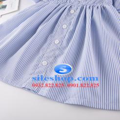 Đầm sọc xanh trắng cho bé gái dễ thương-sileshop (12)