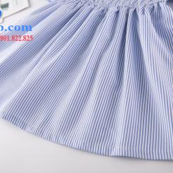 Đầm sọc xanh trắng cho bé gái dễ thương-sileshop (16)