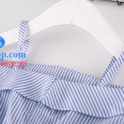 Đầm sọc xanh trắng cho bé gái dễ thương-sileshop (8)