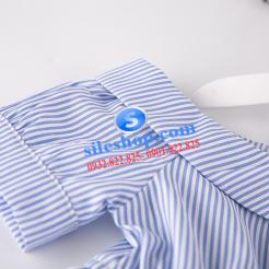 Đầm sọc xanh trắng cho bé gái dễ thương-sileshop (9)