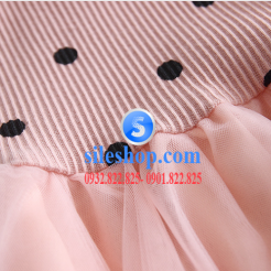 Đầm voan hồng xòe chấm bi cho bé dễ thương-sileshop (29)