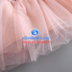 Đầm voan hồng xòe chấm bi cho bé dễ thương-sileshop (30)