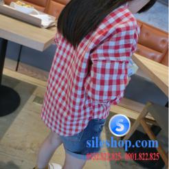 Sơ mi ca rô đỏ trắng cho bé gái dễ thương-sileshop (16)