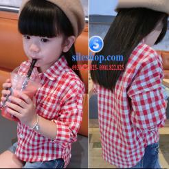Sơ mi ca rô đỏ trắng cho bé gái dễ thương-sileshop (4)