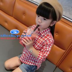 Sơ mi ca rô đỏ trắng cho bé gái dễ thương-sileshop (5)