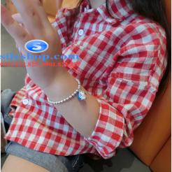 Sơ mi ca rô đỏ trắng cho bé gái dễ thương-sileshop (8)