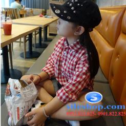 Sơ mi ca rô đỏ trắng cho bé gái dễ thương-sileshop (9)