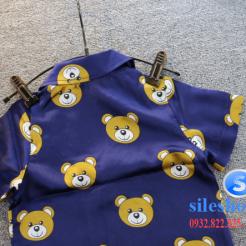 Set đồ ngủ- pijama gấu cho bé gái đáng yêu-sileshop (10)