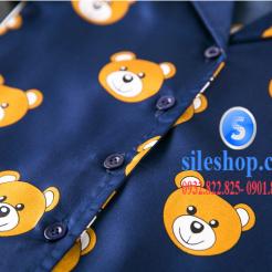 Set đồ ngủ- pijama gấu cho bé gái đáng yêu-sileshop (17)